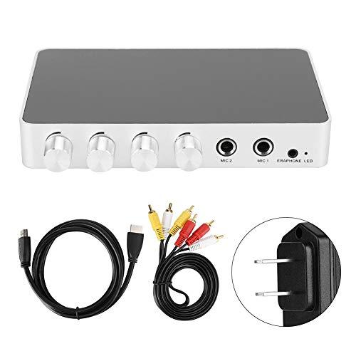 %9 OFF! Sanpyl Karaoke Sound Mixer, 4K Mini HD Mixer Dual Microphone Input Volume Adjustment for Sta...