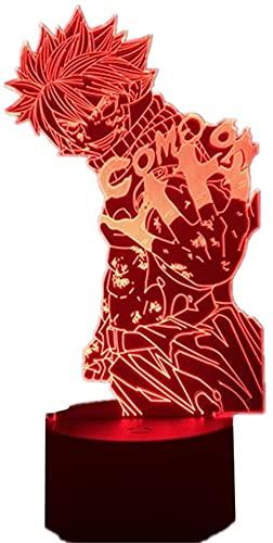 3D Led Nachtlicht Illusion Lampe Usb Anime Fairy Tail Ätherisch? Natsu? Dragneel Xmas Birthday Manga Art Dekoration Schlafzimmertisch-Mit Fernbedienung