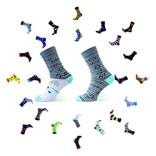 Sesto Senso Lustige Baumwolle Socken Damen Herren 1-3 Paare Bunte Ungleiche Funny Socks Einstein Mathe 39-42 Mathematik