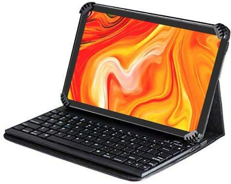 Navitech Folding Leather Folio Case & Stand With Bluetooth Keyboard Compatible With Lenovo Tab P10 10'