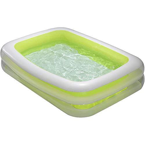 Summer Waves KB0192000156 9ft x 6ft x 18in Deluxe Inflatable Backyard Childrens Kids Toddler Family Kiddie Swimming Splash Pool, Green