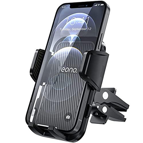 Amazon Brand - Eono Soporte Móvil Coche, Soporte de Teléfono para Rejilla de Ventilación con Rotación 360°, Compatible con iPhone 13, 12, Samsung, Huawei, Xiaomi y Más