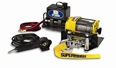 Superwinch 3,000lb Winch with Portable Ball Hitch Mount, Pulley Block, and Quick Connect Bundle