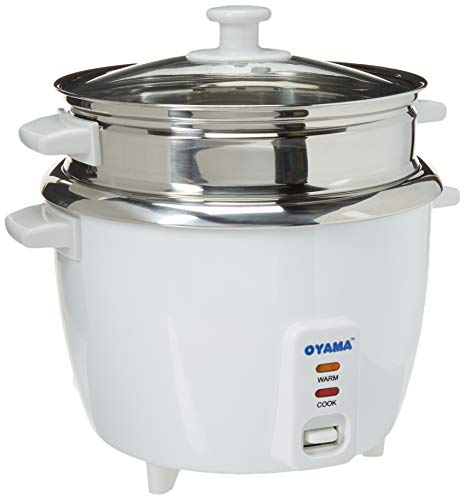 OYAMA Stainless 16-Cup (Cooked) (8-Cup UNCOOKED) Rice Cooker, Stainless Steel Inner Pot, Stainless...