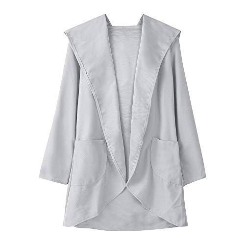 MIRRAY Damen Künstliche Woolen mit Kapuze Dünne Mantel Lose Damen Casual Hoodies Jacke Mantel Top