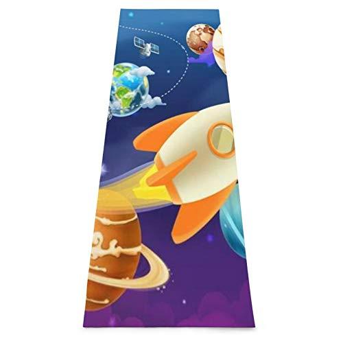 CONICIXI Esterilla Yoga Luna Espacio Solar Astronomía Vía Urano Sistema celeste Planetas Mapa Universo Ciencia Diseño Estrella Colchonetas de ejercicio Pilates para entrenamiento en casa Gimnasio