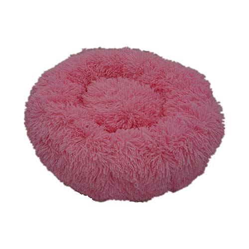 XU TAO Super Soft Dog Dog Sofa Peluche Chat Mat Mat Dog Lits pour Labradors Grands Chiens Bed House Pet Coussin Rond Best Dropshipping Grossiste (Color : Rose, Size : 40cm)