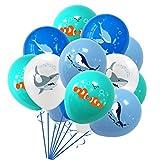 PRETYZOOM 16Pcs 12-Zoll-Ozeanlatexballons Haiwal-Delphin-Nemo-Partyballon-Layout Liefert Partybevorzugungen für Kindergeburtstagsfeier