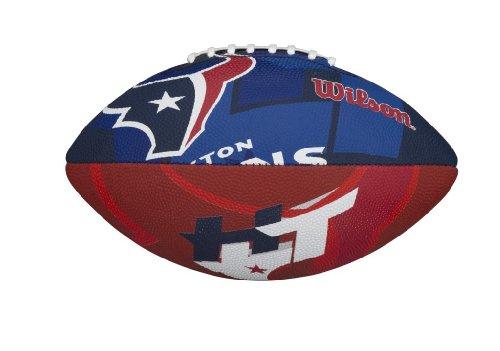 Wilson NFL Junior - Balón Infantil de fútbol Americano, diseño de Logotipo del Equipo