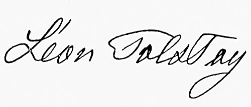 Leo Tolstoy (1828-1910) Nrussian Writer And Philosopher TolstoyS Signature In Modern Roman Script With Leo Written In The French Style As Leon Poster Print by (24 x 36)