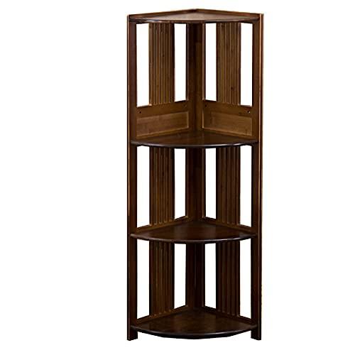NgMik Corner Ladder Solid Wood Corner Cabinet Triangle Corner Cabinet Shelf Display Rack Multipurpose (Color : Brown, Size : 28X100cm)