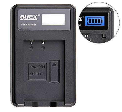 Ayex–Cargador USB Canon Cámara batería Tipo