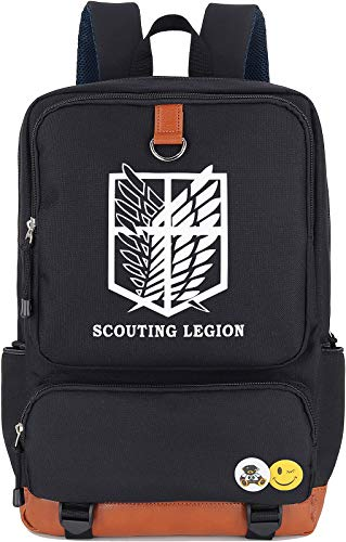 Roffatide Anime Attack on Titan Luminous Backpack Cosplay Scouting Legion Laptop Bag College School Bag
