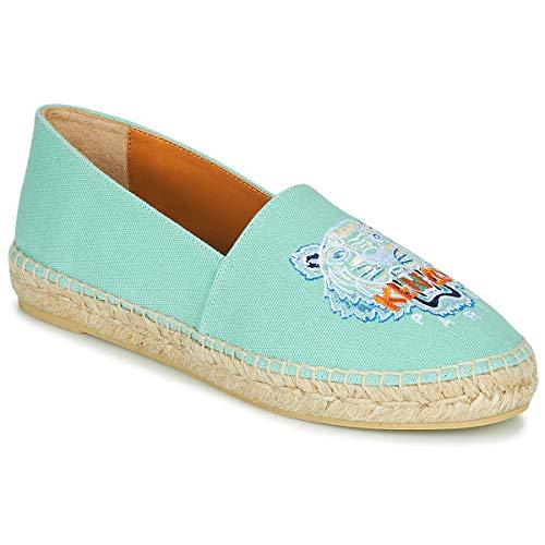 Kenzo Espadrille Classic Tiger Stoffpantoletten/Espandrillos Damen Blau - 36 - Leinen-Pantoletten Mit Gefloch Shoes