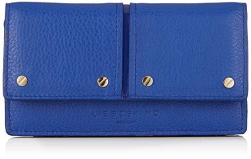 Liebeskind Berlin Damen Mnpslamh8 Pebbpa Geldbörse, Blau (Deep Blue), 4x10x19 cm
