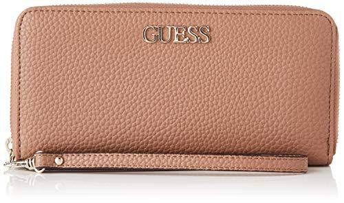 Guess Damen Alby SLG Large Zip Around Reisezubehr- Brieftasche, Taupe, Einheitsgröße