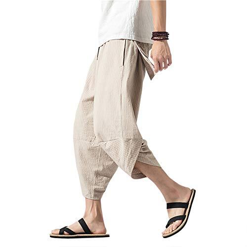 MISSMAOM_Fashion2019 Pantalones de Harén Bombachos Hombre Mujer,Cafe Ligero,2XL