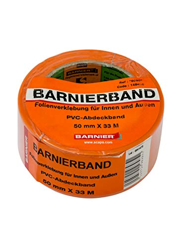Barnier 6095 Putzerband Winter 50 mm x 33 m Schutzband PVC-Schutzband Klebeband Barnier Winterband