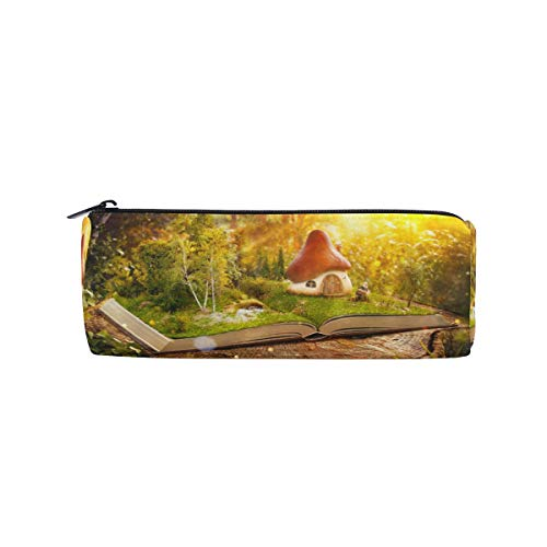 Pencil Bag Magic Book Pen Case for Girl for Boy Cabin Forest Multi-Function Pen Bag PU Leather Makeup Bag for Student 2010240