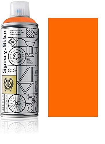 Fahrrad Lackspray in NEON Farben - KEINE GRUNDIERUNG notwendig - Acryllack/Lack Spray in 400 ml Spraydose, Matt- und Klarlack Optik möglich (Matt, Neon Orange)