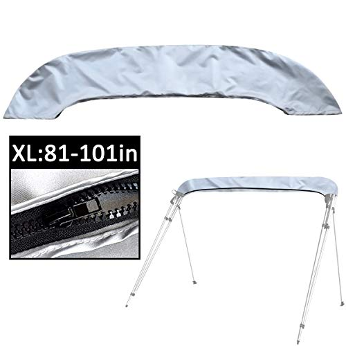 SoGuDio Bimini Top Cover,Suitable for 3-4 Bows Bimini Tops,Effectively Prevent The Erosion of UV, sea Water and sea Breeze in Summer,Storage Boot (Silvery XL:81-101)