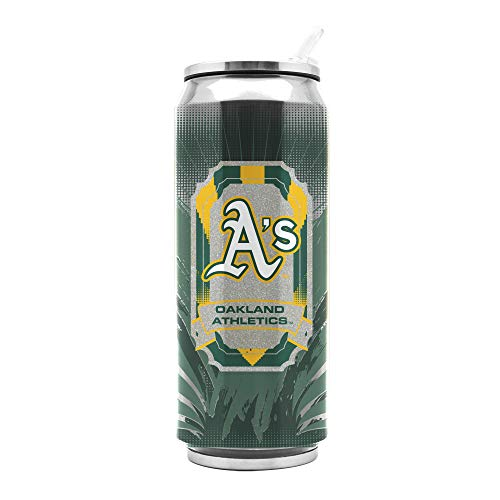 Duck House MLB Oakland Athletics SS Thermocan Sports Fan Kitchen Products, Large/16.9 oz, Multicolor