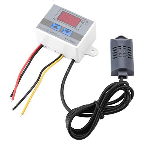 Controlador de humedad, XH-W3005 Controlador de interruptor de higrómetro digital Sensor de humedad 0~99% RH 12V(12V)