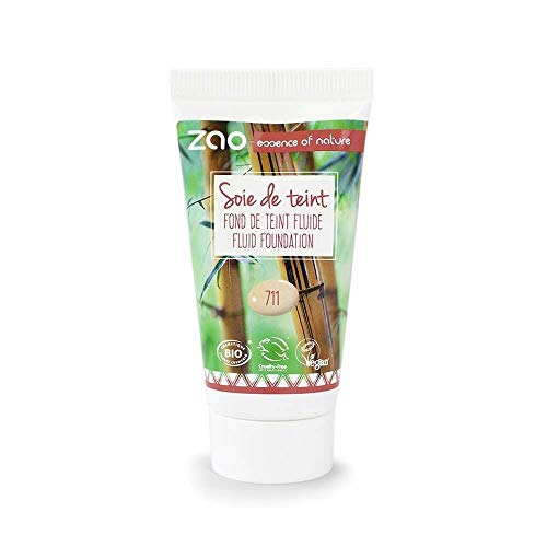 Zao Refill Liquid Silk 711clair/sable/beige clair maquillage de liquide de recharge (Bio, vegan) 111711