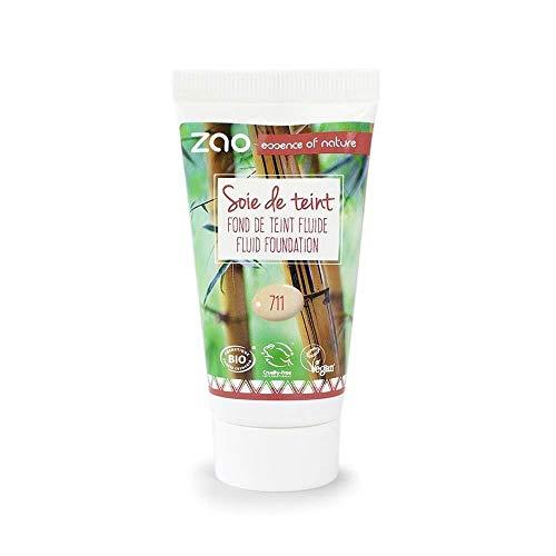 Zao Refill Liquid Silk 711 clair/sable/beige clair maquillage de liquide de recharge (Bio, vegan) 111711