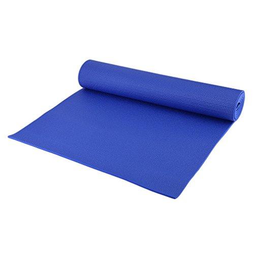 Bubbry PVC yogamat antislip 6mm dik gymnastiek oefenonderlegger voor bodybuilding