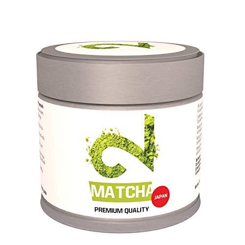 DUAL Matcha Tea Japan | Grado culinario | Té Matcha 100% Natural Bio y Orgánico|La Mejor Selección de Tencha|Molido en Molinos de Piedra de Granito|DE-ÖKO-022|Sin aditivos|30g|Hecho en Kioto Japón