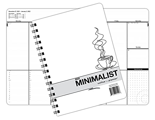 Dated Minimalist DayPlanner - 12 Monthly Calendar Overview, to-do...