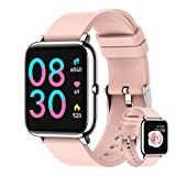 LB LIEBIG Smart Watch,Blood Pressure Monitor Waterproof IP67,Men's and Women's Fitness Tracker, Compatible with Android iOS, Fitness Watch for 8 Sports Modes (Pink)