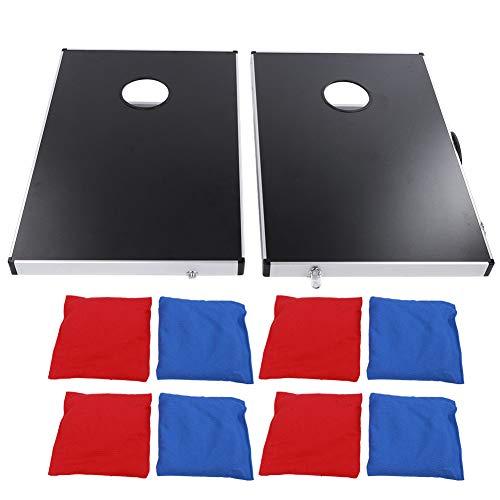 Sandbag Table - Juego de juguetes Bean Bag/Cornhole Toss con 4 bolsas de arena rojas para uso interior y exterior