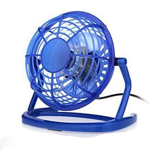 VIWIV Ventilador de escritorio Ventilador USB de 4 pulgadas Ventilador de mesa de ajuste de rotación de 360 °, ultra silencioso, mini ventilador eléctrico simple ventilador personal (color: azul)