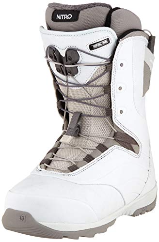Nitro Snowboards Damen Crown TLS '20 All Mountain Freeride Freestyle Schnellschnürsystem Boot Snowboardboot, Bone, 23.0