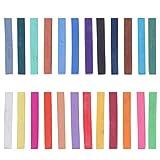 EXCEART 24Pcs Pastell Kreide Künstler Skizze Quadrat Farbigen Pastelle Ungiftig Buntstifte Sticks...