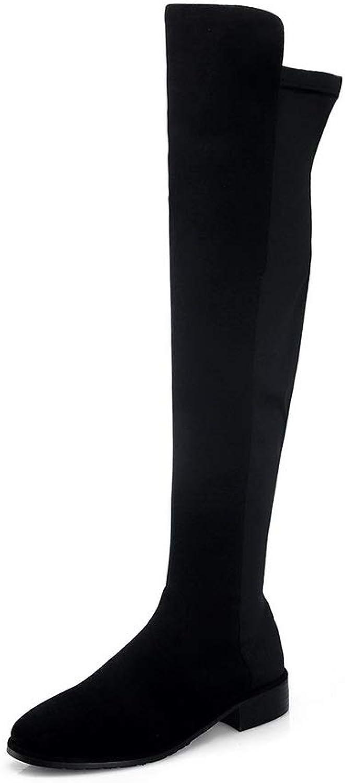 AdeeSu Womens Nubuck High-Top Solid Urethane Boots SXE04486