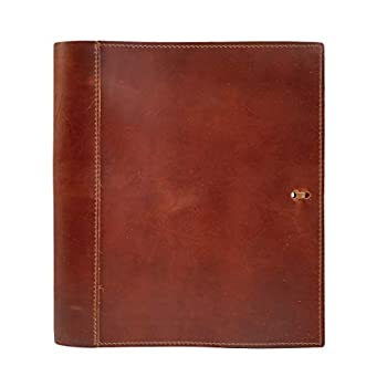 Leather Binder Handmade by Rustico in The USA Top-Grain Professional Soft Standard 3 Ring Spine 1.5 Inch Rings Organizer Planner Store Important Documents
