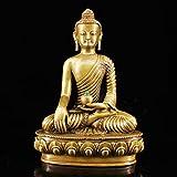 JYKFJ Estatua de Buda, Figura Budista de Shakyamuni para la Paz, Buda Sentado de latón, Figura de de...