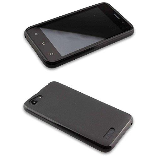 caseroxx TPU-Hülle & Bildschirmschutzfolie für Archos 40 Neon, Set (TPU-Hülle in schwarz)