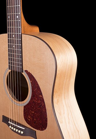 Seagull S6 Classic Natural A/E Acoustic-Electric Guitar with Seagull Padded Dreadnought Gig Bag (041237)