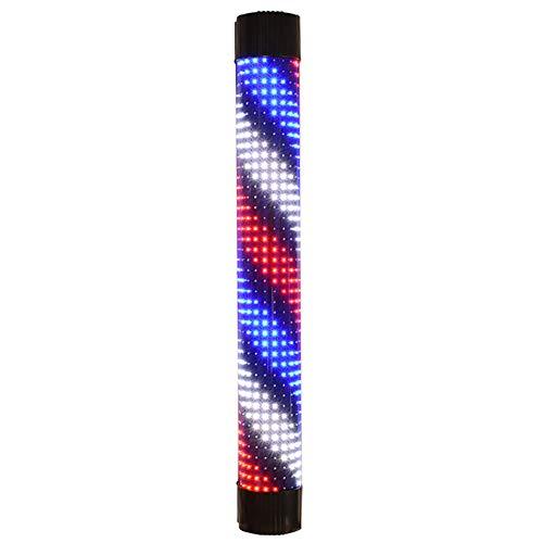 XGPT Barber Shop Pole Rotating Lighting LED Black Shell Red White Blue Twill Strip Remote Control...