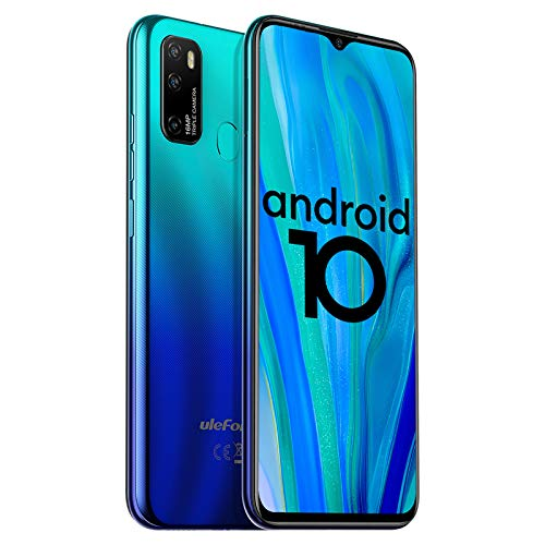 "Unlocked Smartphones Ulefone Note 9P, 16MP + 5MP + 2MP, Dual Sim Phones Unlocked, Andorid 10 4GB+64GB ROM, 6.52"" FHD, Fingerprint Face Detection, 4500mAh high Capacity Battery, AT&T, T-Mobile - Blue"