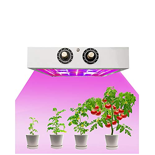 CCZMD LED Grow Light, Indoor Plant Grow Lights, Knob To Adjust -Full Spectrum - Environmental Protection- Low Power Consumption- High Luminous Efficiency,240 * 240 * 50mm