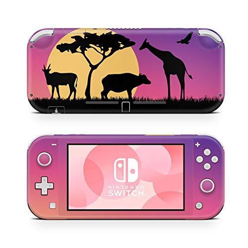 46 North Design Switch Lite Skin Vinyl Stickers, Safari África Zoológico Sol Naturaleza Selva Animal León Elefante Jirafa Rey Mascotas, Alta calidad, Durable, Sin burbujas, Made in Canada