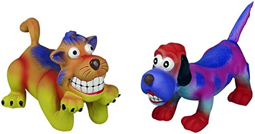 Zoolox Latex Hundespielzeug Grinsehund/Katze Gross