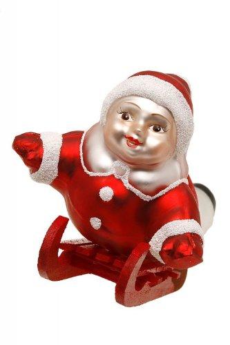 Hamburger Weihnachtskontor - Außergewöhnlicher Christbaumschmuck -Kind auf Schlitten
