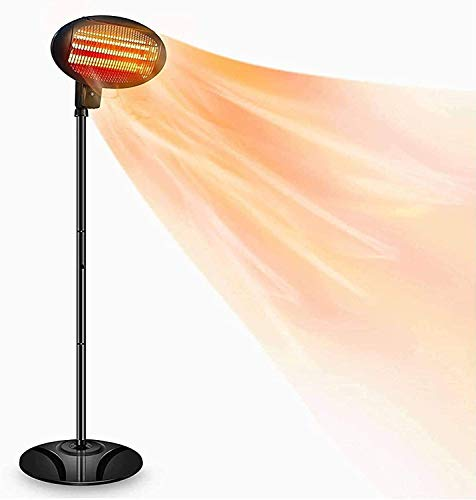 Patio Heater Electric Outdoor Heaters - 1500W 3 Adjustable Power Level Outdoor Infrared Heater Tip Over & Overheat Protection, Super Quiet Warm Vertical Electric Heater