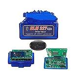 UGUTER Doble ELM 327 Bluetooth V1.5 ELM327 PIC18F25K80 Herramienta de diagnóstico de automóvil Doble PCB ELM 327 Escáner ELM327 1.5 Lector de códigos (Color : Blue 2PCB)